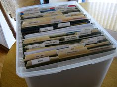 How to Set Up an Effective Household Filing System. GREAT TIPS!!!