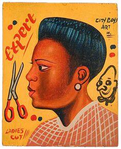 expert barber shop sign