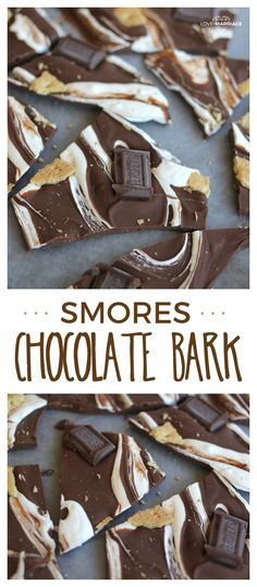 Bark A delicious way to eat s'mores. This s'mores bark is super easy and tastes so good!A delicious way to eat s'mores. This s'mores bark is super easy and tastes so good! Easy Chocolate Desserts, Easy Desserts, Delicious Desserts, Chocolate Marshmallows, Chocolate Bark, Chocolate Chocolate, Christmas Desserts, Christmas Baking, Christmas Goodies