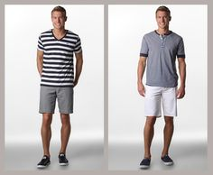 It's basic but nice. Why is it so hard to find men's summer fashion that doesn't include a *jacket*? Also, I do not like dress shoes with shorts.