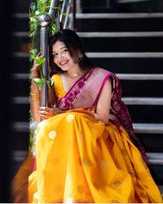 Bride to be Indian Photoshoot, Saree Photoshoot, Beautiful Saree, Beautiful Indian Actress, Half Saree Lehenga, Anarkali Dress, Anarkali Suits, Saree Blouse, Half Saree Designs