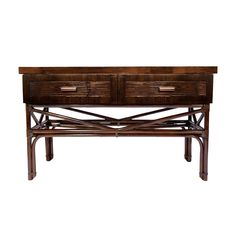 The Jaya Console.  Rattan & Crushed Bamboo, from Walters Wicker Interior Collection.