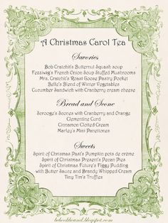 A Christmas Carol Tea Party! What a fun idea for Christmas time! from Be Book Bound