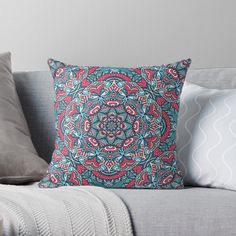 'Paisley Pattern' Throw Pillow by SoccaTamam Paisley Pattern, Pattern Art, Paisley Print, Laptop Cases, Phone Cases, Wall Tapestries, Tapestry, Floor Pillows, Bed Pillows