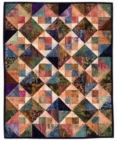 Batik Fun quilt by Lori Smith