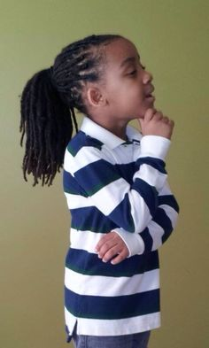Pinned from Pin It for iPhone Boys Haircuts Curly Hair, Black Men Hairstyles, Boys Long Hairstyles, Dreadlock Hairstyles, Baby Dreads, Childrens Hairstyles, Train Up A Child, Hair Affair, Modern Kids