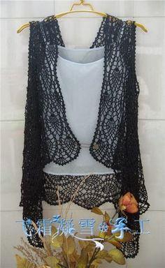Crochet Woman, Crochet Lace, Crochet Vests, Crochet Tops, Short Tops, Rubrics, Hobbies And Crafts, Crochet Necklace, Crochet Patterns
