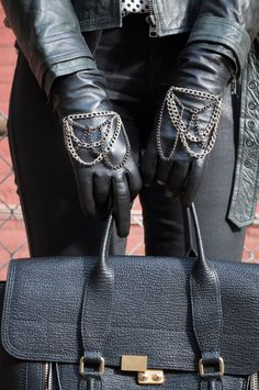 An easy chain-embellished glove DIY #glove #DIY