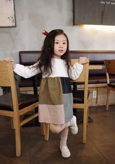 Patched A Line Dress for girls kids fashion at colormewhimsy 1
