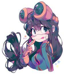 My Hero Academia (僕のヒーローアカデミア) - Tsuyu Asui (蛙吹 梅雨) Boku No Hero Academia, My Hero Academia Tsuyu, My Hero Academia Memes, Hero Academia Characters, My Hero Academia Manga, Anime Characters, Tsuyu Asui, Chibi, Tsuyu Boku No Hero
