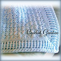 Could not resist this pattern.  Baby afghan with directions for several sizes.