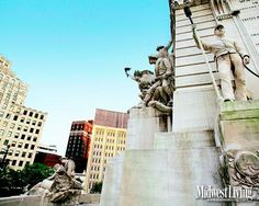 Monument Circle, Indianapolis. More Indiana photos: http://www.midwestliving.com/travel/indiana/decorate-your-desktop-with-our-indiana-photos/