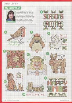 Natty's cross stitch corner: 50 Small Christmas Motifs.