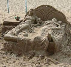 esculturas de areia por Eva
