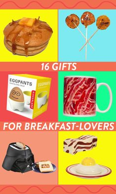 Cute and quirky gifts for people who know that breakfast is the most important (and most delicious) meal of the day
