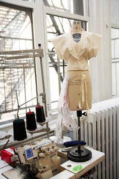 Fashion Design Studio - fashion designer's workspace; fashion behind the scenes; dressmaking // Alexander Wang