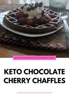 Keto Recipes, Snack Recipes, Chocolate Cherry, Healthy Snacks, Waffles, Meals, Breakfast, Hot, Holiday