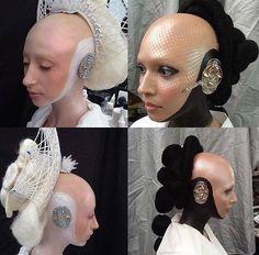 Bald Cap, Bald Girl, Bald Heads, Photo Makeup, Ear, Accessories, Beauty, Beauty Illustration, Jewelry Accessories
