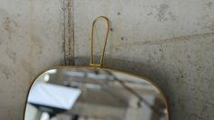 Brass-Meraki-Mirror Bed Company, Rustic Frames, Meraki, Organic Shapes, Brass, Contemporary, Mirror, Bathroom, Luxury