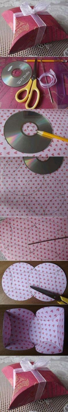 good idea.  Use CD to trace circles on pretty paper, make gift box.