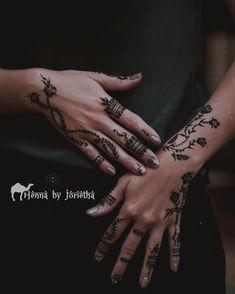 Beautiful Natural Rose Henna / Mehndi on hands and arms . Henna by Jorietha Henna Tattoo Hand, Henna Arm, Hand Mehndi, Hand Tattoos, Modern Henna Designs, Floral Henna Designs, Henna Designs Easy, Henna Inspired Tattoos