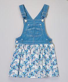Another great find on #zulily! Light Wash Blue Floral Skirtall - Girls #zulilyfinds