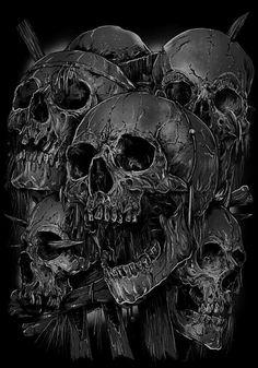 Bildergebnis für old school tattoo rockabilly Skull Tattoo Design, Skull Design, Skull Tattoos, Skull Artwork, Metal Artwork, Cool Artwork, Grim Reaper Art, Lowrider Art, Skull Illustration