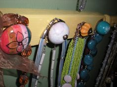 Cute dresser knobs from the craft store I used to make a custom jewelry display