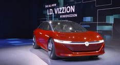 VW ID VIZZION will achieve its range through a system called the advanced low drag design. Electric Motor, Electric Cars, Electric Car Reviews, Tesla Model S, Audi Q, Modern Tech, Volkswagen Bus, Self Driving, Love Car