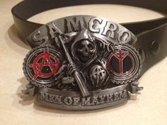 Sons Of Anarchy Men of Mayhem logo metal BUCKLE by ArmourGifts