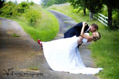 LOVE the brides red heels!!!