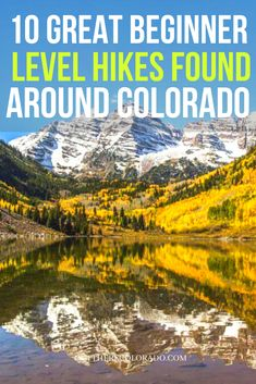 Interested in hiking, but not sure where to start? Here are a few beginner-level hikes around Colorado that offer an outdoor experience without much strain. #OutThereColorado #Travel #Colorado #ColoradoVacation #ColoradoSprings #Denver #Breckenridge #RockyMountainNationalPark #Mountains #Adventure #ColoradoFall #ColoradoPhotography #ColoradoWildlife #Mountains #Explore #REI #optoutside #Hike #Explore #Vacation Colorado Hiking, Colorado Mountains, Colorado Springs, Rocky Mountain National Park, Best Hikes, Hiking Gear, Denver, Wildlife, Vacation