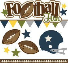 Football Fun - SVG Scrapbooking files for cutting