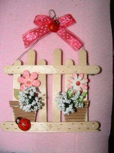 Ice Lolly Stick Crafts, Diy Popsicle Stick Crafts, Popsicle Sticks, Easter Crafts, Diy And Crafts, Christmas Crafts, Crafts For Kids, Wood Crafts, Stick Art