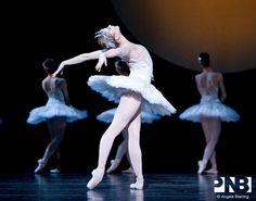 PNB principal dancer Carla Korbes in a classic white tutu designed by Paul Tazewell in Swan Lake.