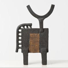 Dominique Pouchain; Glazed Ceramic Figure, c1980.