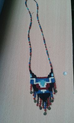 weaving (yasemin beğitoğlu) 2014-2015 Fiber Art Jewelry, Jewelry Art, Kids Jewelry, Jewelry Making, Weaving Patterns, Micro Macrame, Fabric Jewelry, Loom Weaving, Bead Crafts
