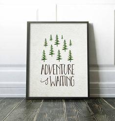 Nursery Wall Art PRINTABLE  Woodland Theme  Adventure is