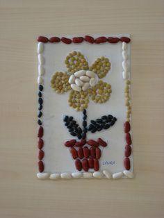Mosaico de legumbres.