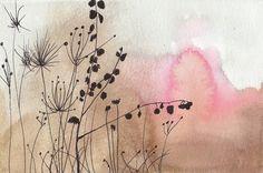 Landscape Illustration Art - Desert Rose - 8x10 Giclee Print - Limited Edition - Print 11/100  Christine Lindstrom   $24.00