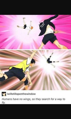 Yup call hinata if you want to learn how to fly. He's an expert