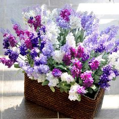 2 bouquet Home fashion Artificial Lavender Silk Flower Home Decoration Wedding Party-in Decorative Flowers & Wreaths from Home & Garden on A. Lavender Bouquet, Silk Flower Bouquets, Lavender Flowers, Flower Bouquet Wedding, Artificial Silk Flowers, Fake Flowers, Beautiful Flowers, Artificial Plants, Colorful Flowers