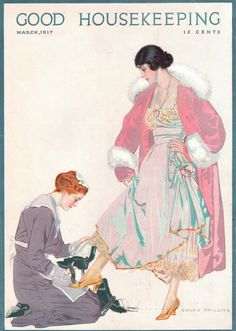 Coles Phillips - Good Housekeeping Magazine cover (March 1917) [also on magazineart.org]
