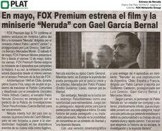 FOX Networks Group: Estreno de Neruda en el diario Del País de Perú (02/05/17)