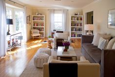 interior design, coffee tables, living rooms, living room layouts, couch, narrow live, live room, furniture placement, white furniture