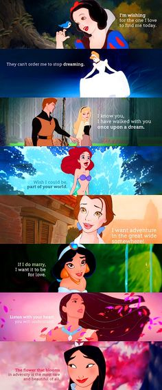 Disney princess quotes :)