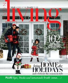 Avon's Christmas 'Living' Catalog.  Let's Get Festive with Home Decor, Trim the Tree, Entertain, Kitchen, Family Fun, and Kids.