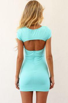 SABO SKIRT Teal Cutout Dress - www.saboskirt.com