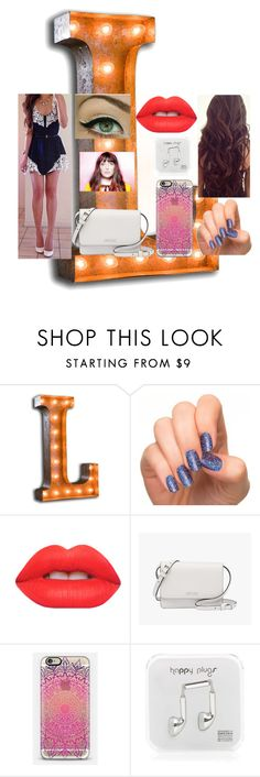 """""""Look#100"""" by allicefaleta ❤ liked on Polyvore featuring Lime Crime, Prada, Casetify and Happy Plugs"""