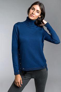 Jumper, 18th, Turtle Neck, Sweaters, Blue, Fashion, Crew Neck, Tricot, Moda